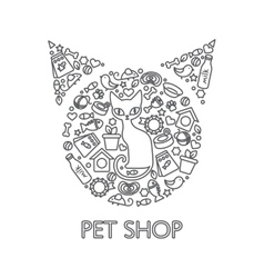 Pets Shop Poster vector image vector image