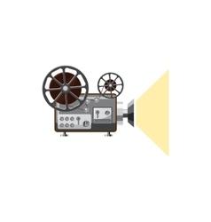 Retro movie projector icon cartoon style vector