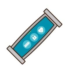Smart bracelet wearable sport padlock vector