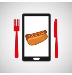 smartphone order fast food online vector image