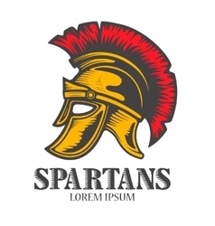 Spartan helmet isolated on white background vector image