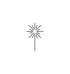 Stick fireworks vector