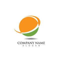 sun logo and symbols star icon web - vector image