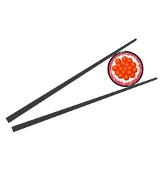Sushi and chopsticks isolated vector