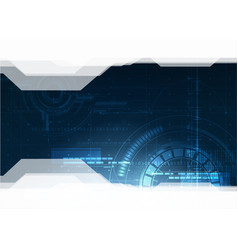 Technological future hud security background vector