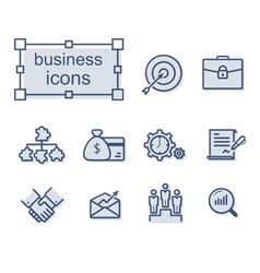 Thin line icons set business vector