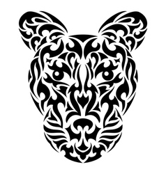 Tribal leopard vector