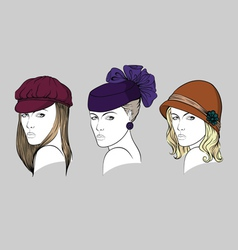 Women with hats vector image