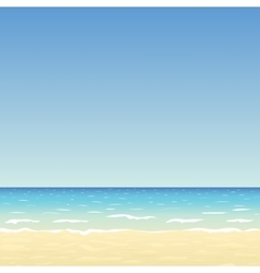 Sand beach and blue sky vector