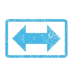 Horizontal exchange arrows icon rubber stamp vector