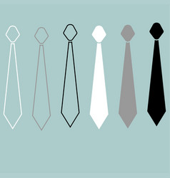 tie or cravat path and flat style icon vector image
