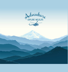 Mountain landscape and design element with vector