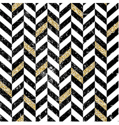 gold and black chevron pattern vintage seamless vector image