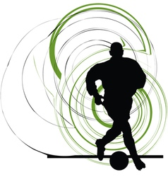 Football player in action vector