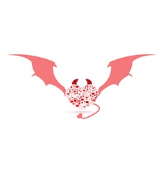 The devil valentines day love icon vector