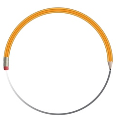 Circle Pencil vector image