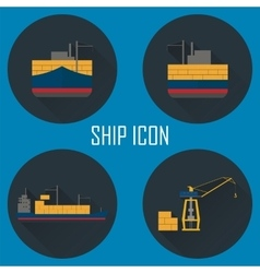 Logistic icon set for web or mobile aplication vector