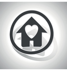 Love house sign sticker curved vector