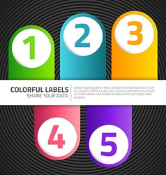 Modern labels vector