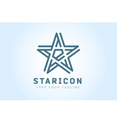 Star logo icon leader boss symbol vector