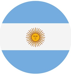 Round Argentina flag vector image