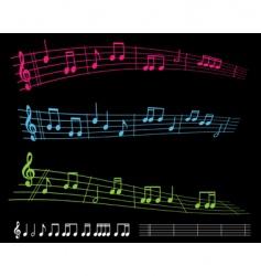 Sheet music vector