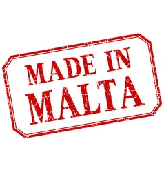 Malta - made in red vintage isolated label vector