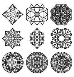 A set of crystal vector image vector image