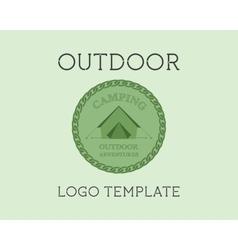 Adventure outdoor tourism travel logo template vector