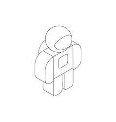 Astronaut in spacesuit icon isometric 3d style vector