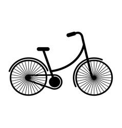 black icon vintage bicycle cartoon vector image