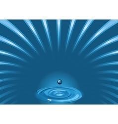 Blue water vector