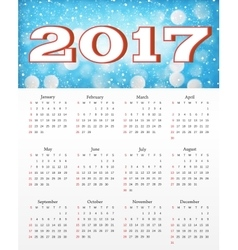 Calendar with abstract red background vector