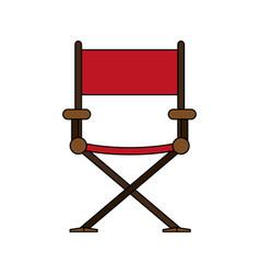 Color image cartoon cinema director chair vector