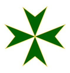 Cross of saint lazarus vector