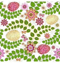 Easter seamless floral pattern vector image vector image
