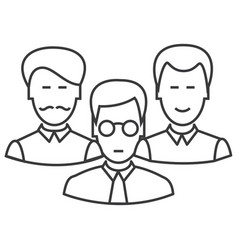engineers team line icon sign vector image vector image