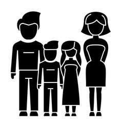 family - 4 persons - father mother son daughter vector image vector image