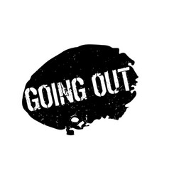 Going out rubber stamp vector