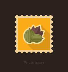 gooseberry flat stamp berry fruit vector image vector image