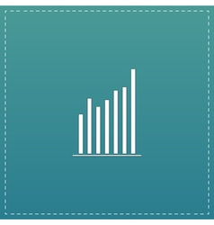 Graph chart sign icon diagram symbol statistics vector