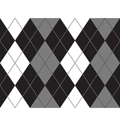 Grayscale argyle seamless pattern vector image vector image