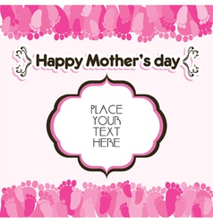 happy mothers day greeting background vector image vector image
