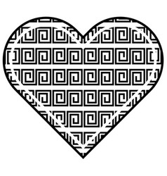 heart love abstract geometric design vector image