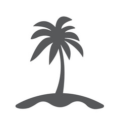 Island and palm icon flat vector