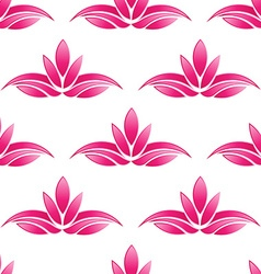 Lotus pattern backgroundSeamless vector image vector image