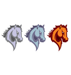 mustang sport mascot vector image
