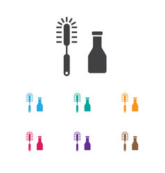 of cleaning symbol on brush vector image