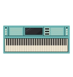 Piano keyboard instrument design vector image vector image