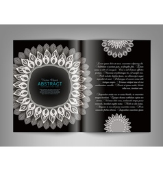 reversal template magazine with black and white or vector image